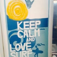 Keep Calm and Love Surf - Dorm Bathroom